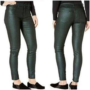 7 for All Mankind Metallic Green skinny je…